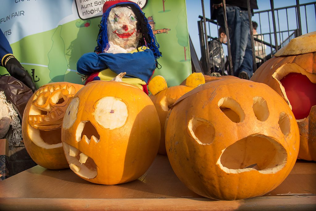 A selection of scary pumpkins from the Pumpkin Carving Competition.